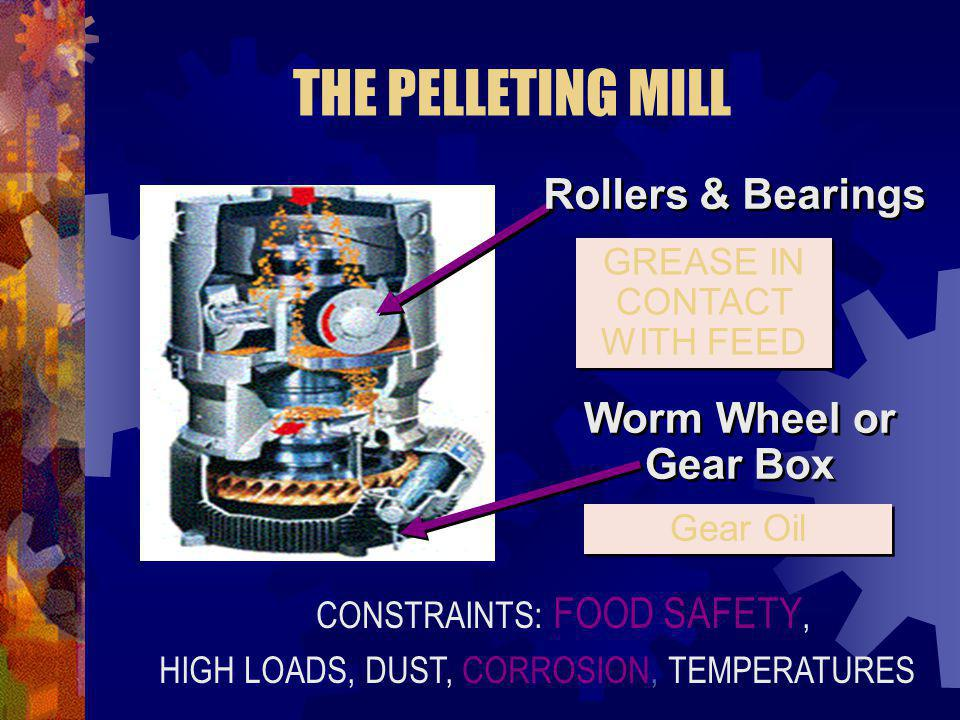 THE PELLETING MILL Rollers & Bearings Worm Wheel or Gear Box