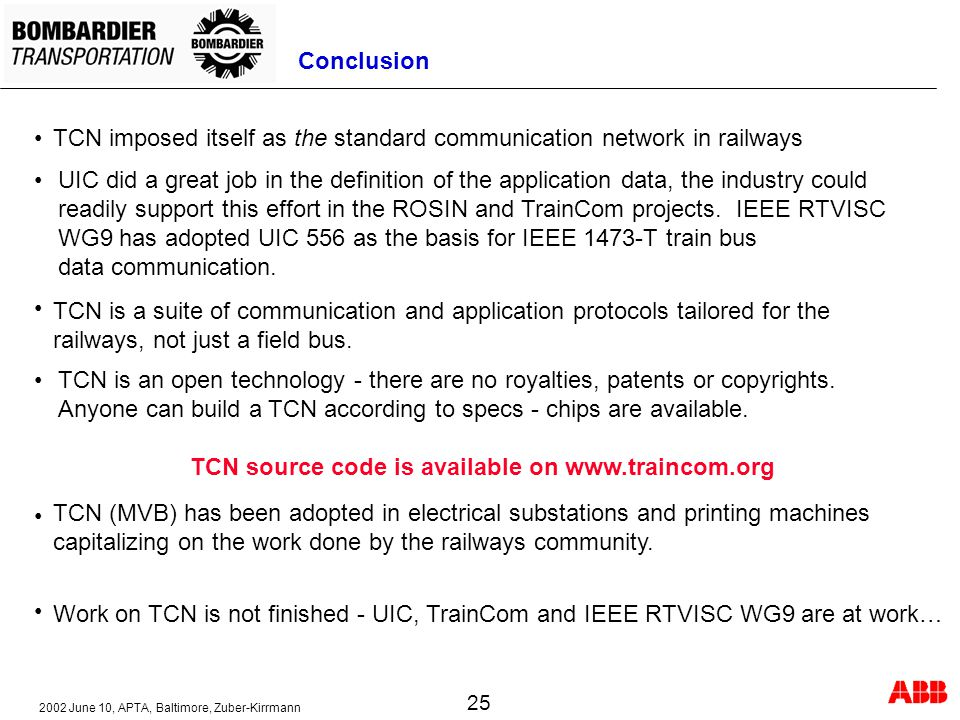 TCN source code is available on www.traincom.org