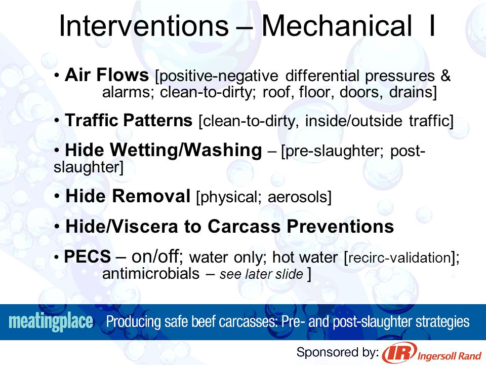 Interventions – Mechanical I