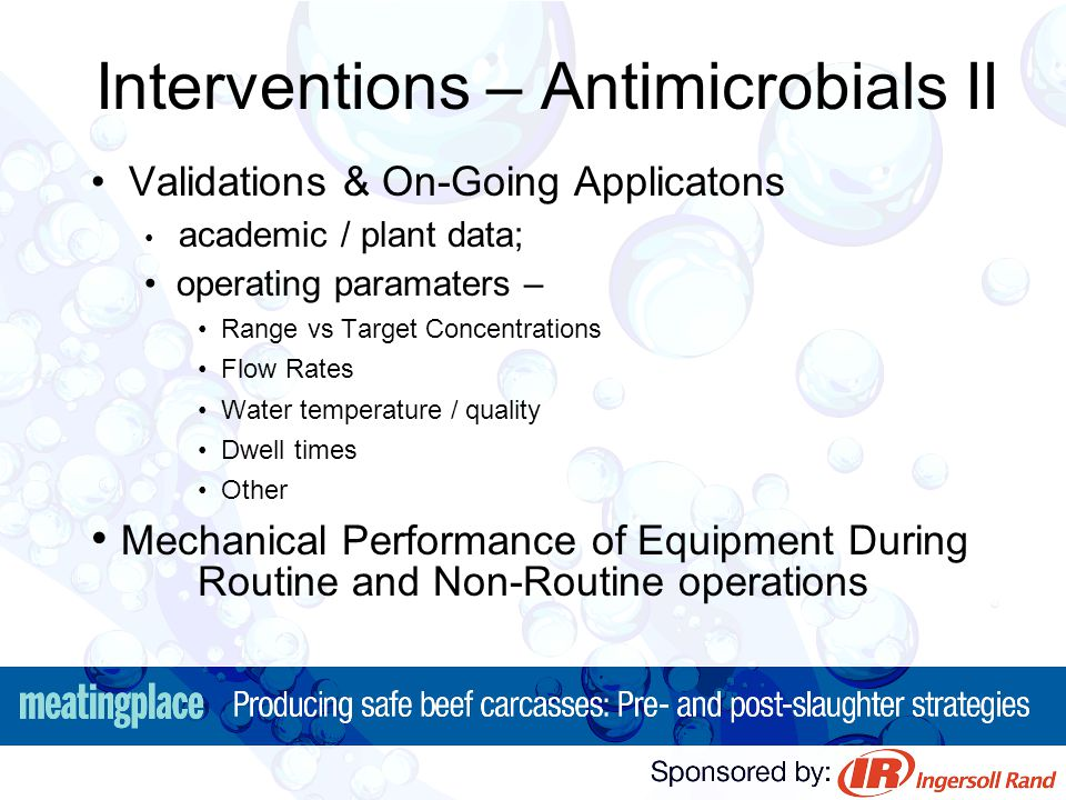Interventions – Antimicrobials II
