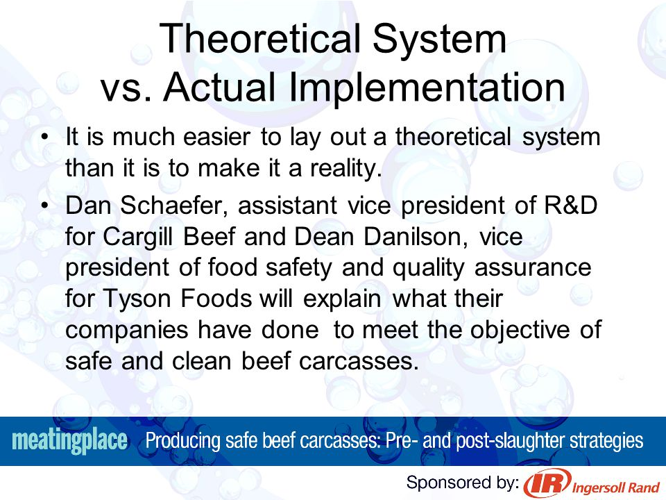 Theoretical System vs. Actual Implementation