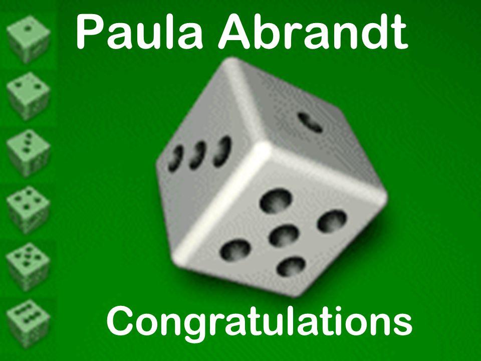 Paula Abrandt Congratulations