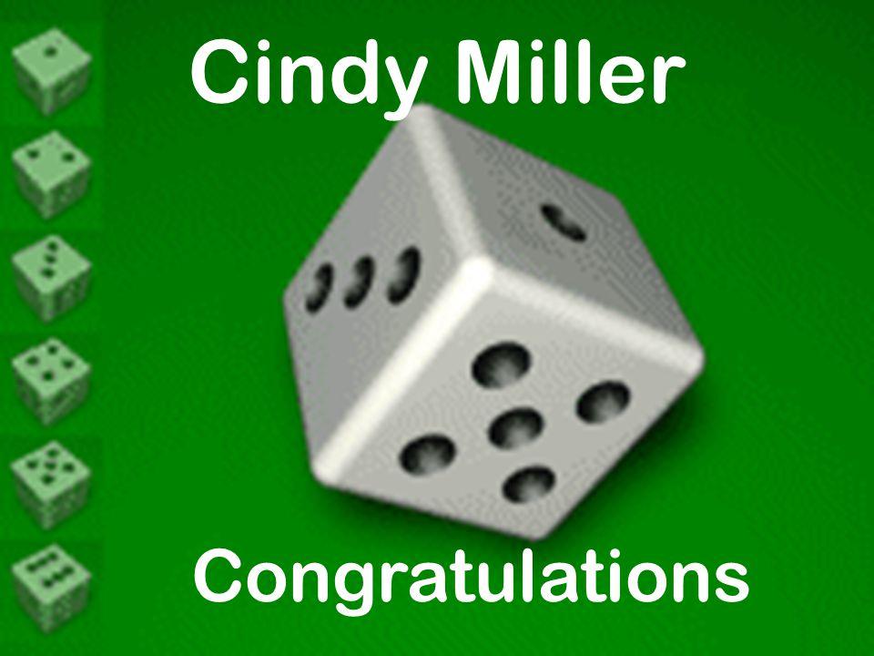 Cindy Miller Congratulations