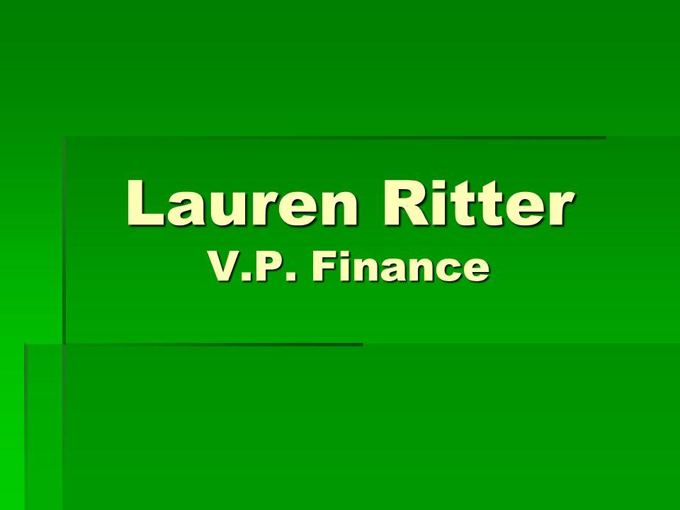 Lauren Ritter V.P. Finance