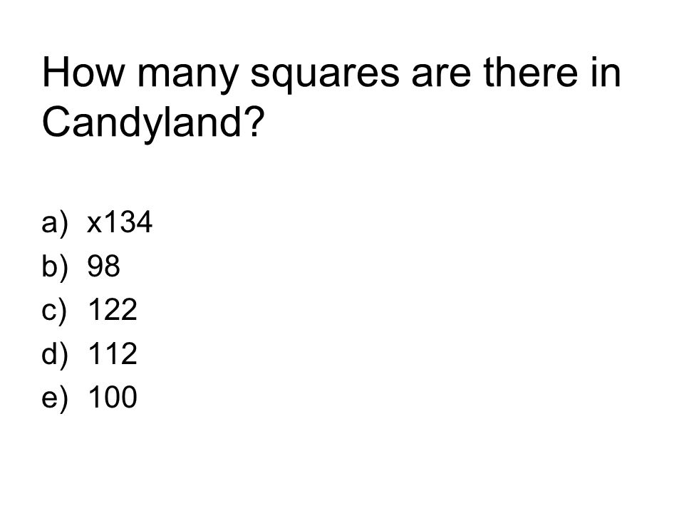 How many squares are there in Candyland