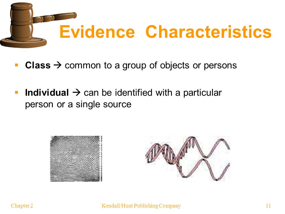 Class vs Individual Evidence