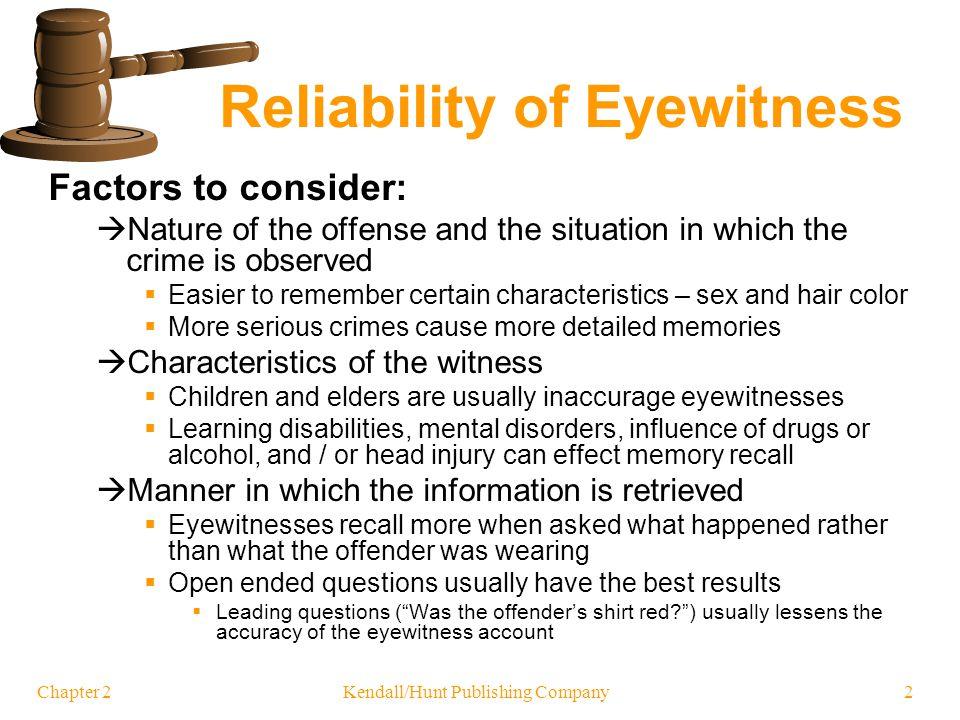 Reliability of Eyewitness