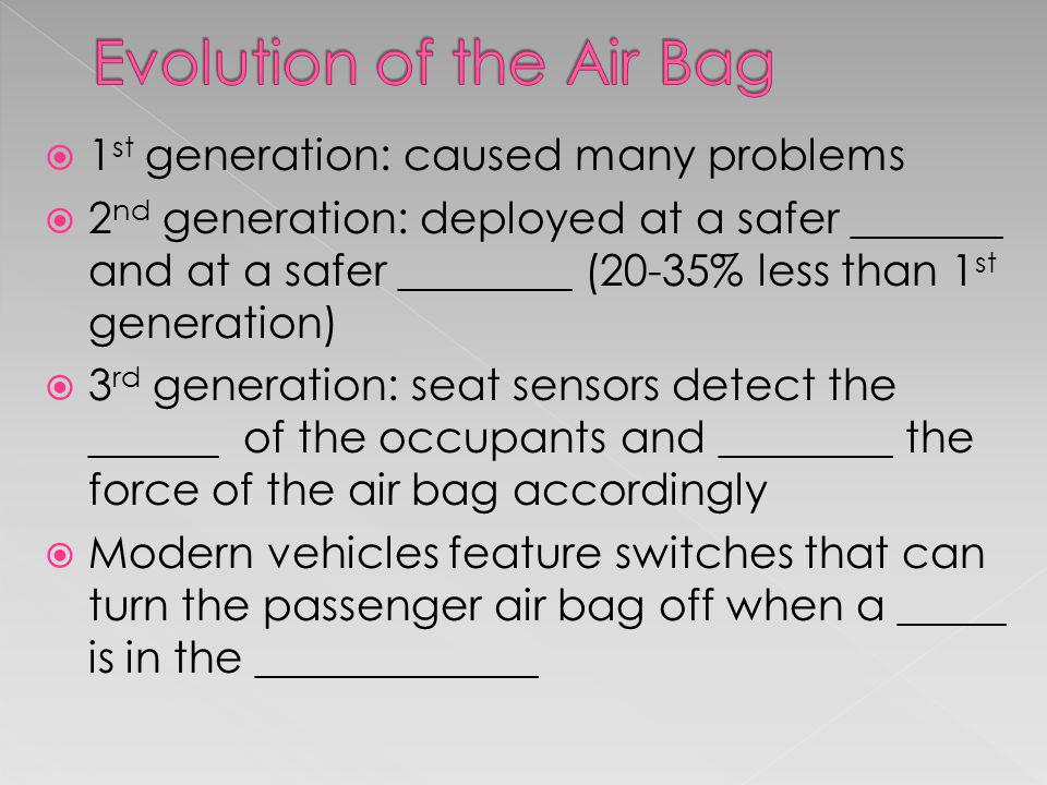 Evolution of the Air Bag