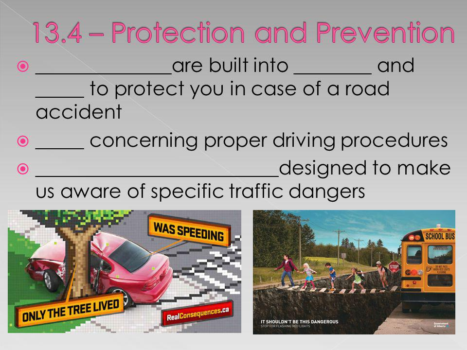 13.4 – Protection and Prevention