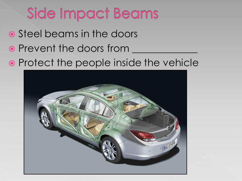 Side Impact Beams Steel beams in the doors