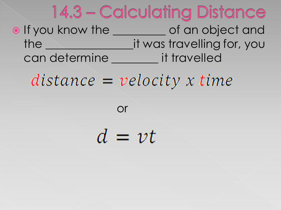 14.3 – Calculating Distance