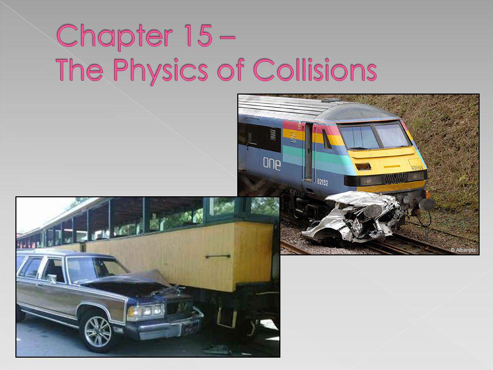 Chapter 15 – The Physics of Collisions