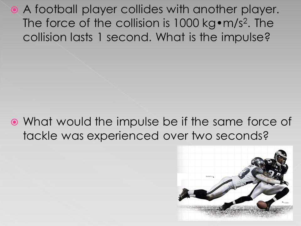 A football player collides with another player