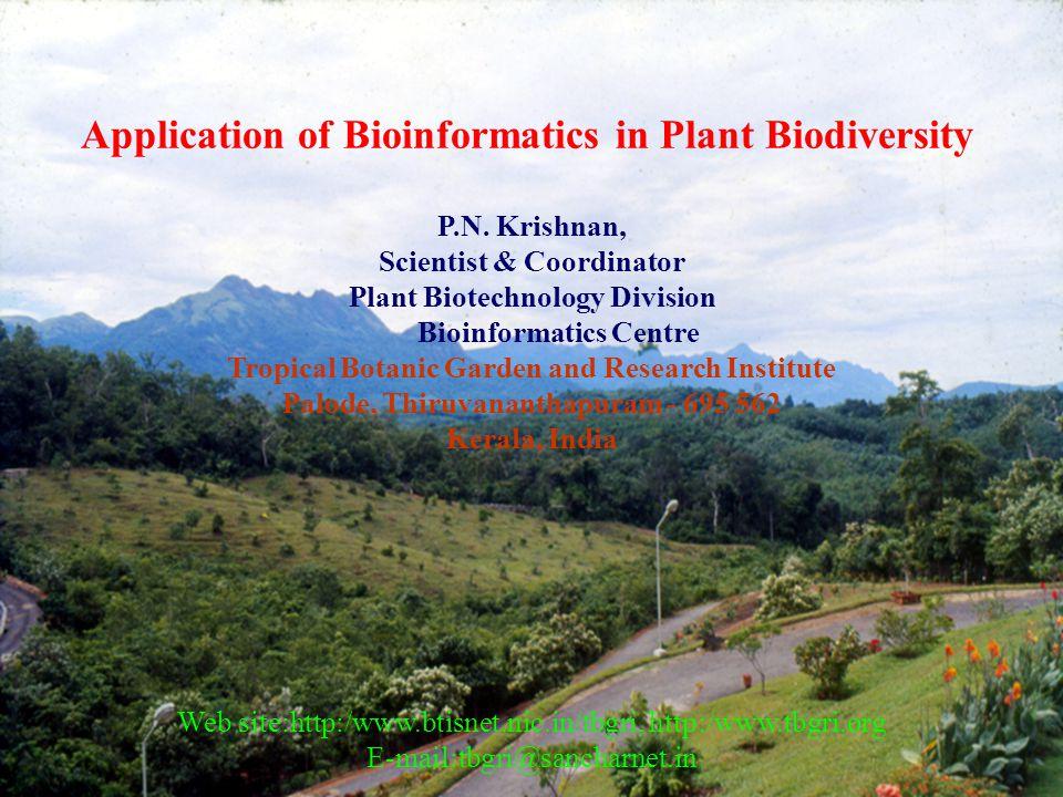 Application of Bioinformatics in Plant Biodiversity