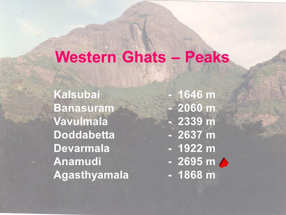 Western Ghats – Peaks Kalsubai - 1646 m Banasuram - 2060 m