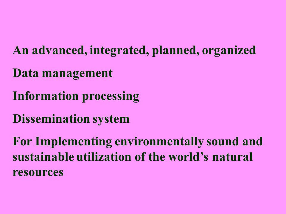 An advanced, integrated, planned, organized