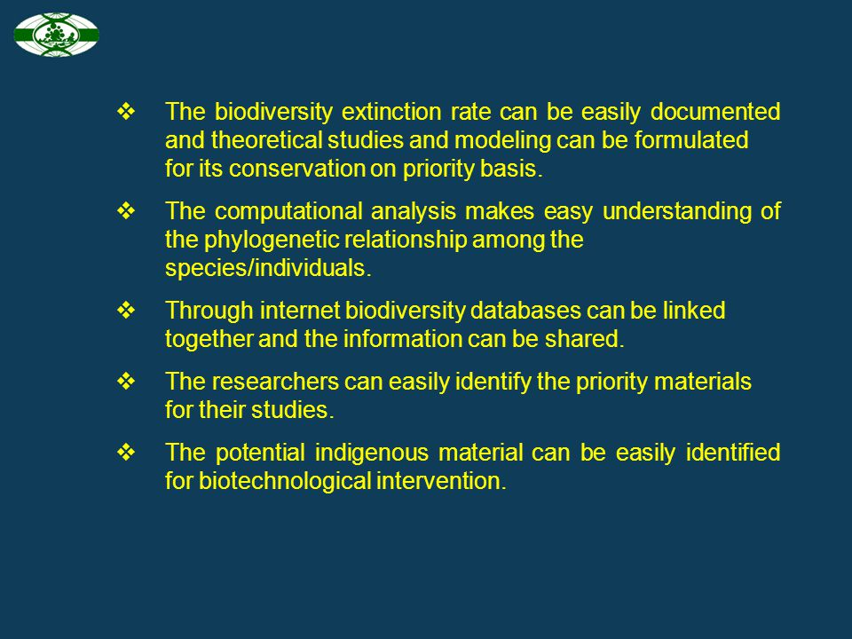 The biodiversity extinction rate can be easily documented