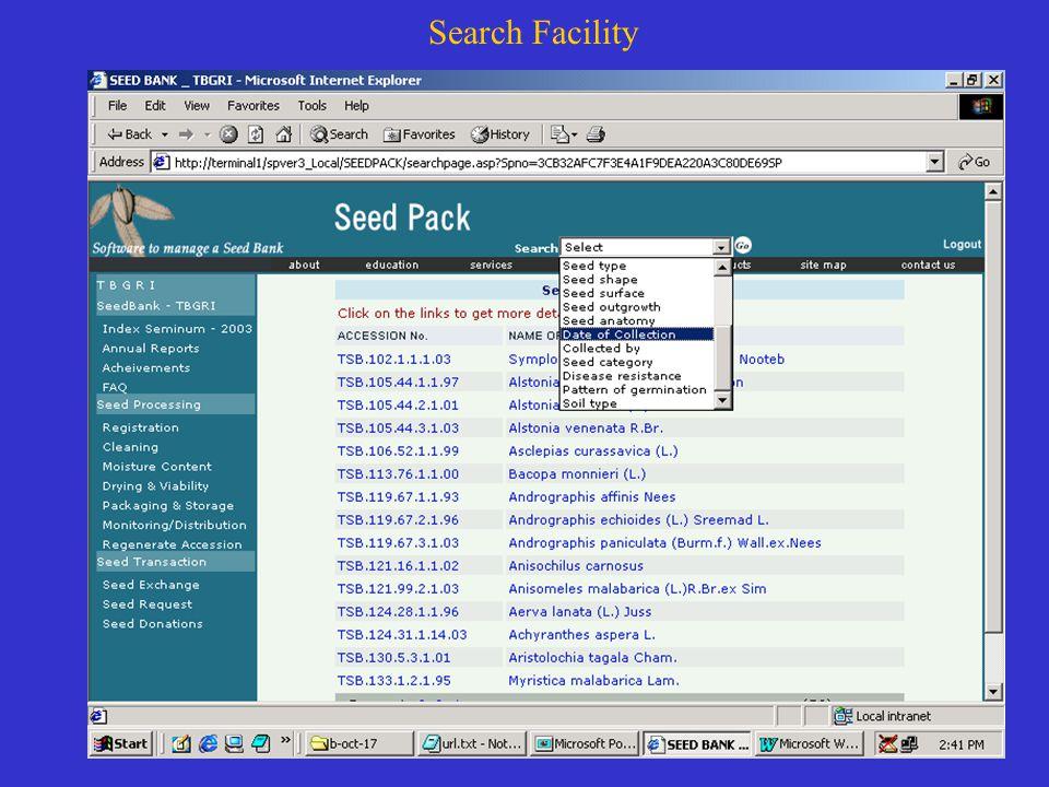 Search Facility