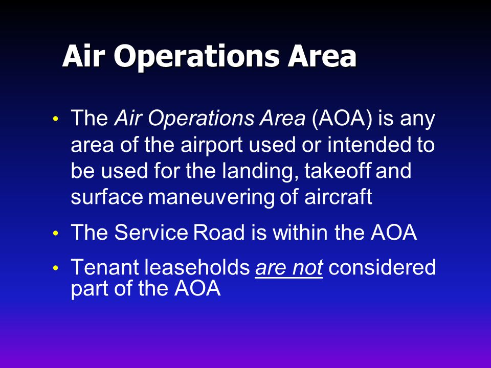 Air Operations Area