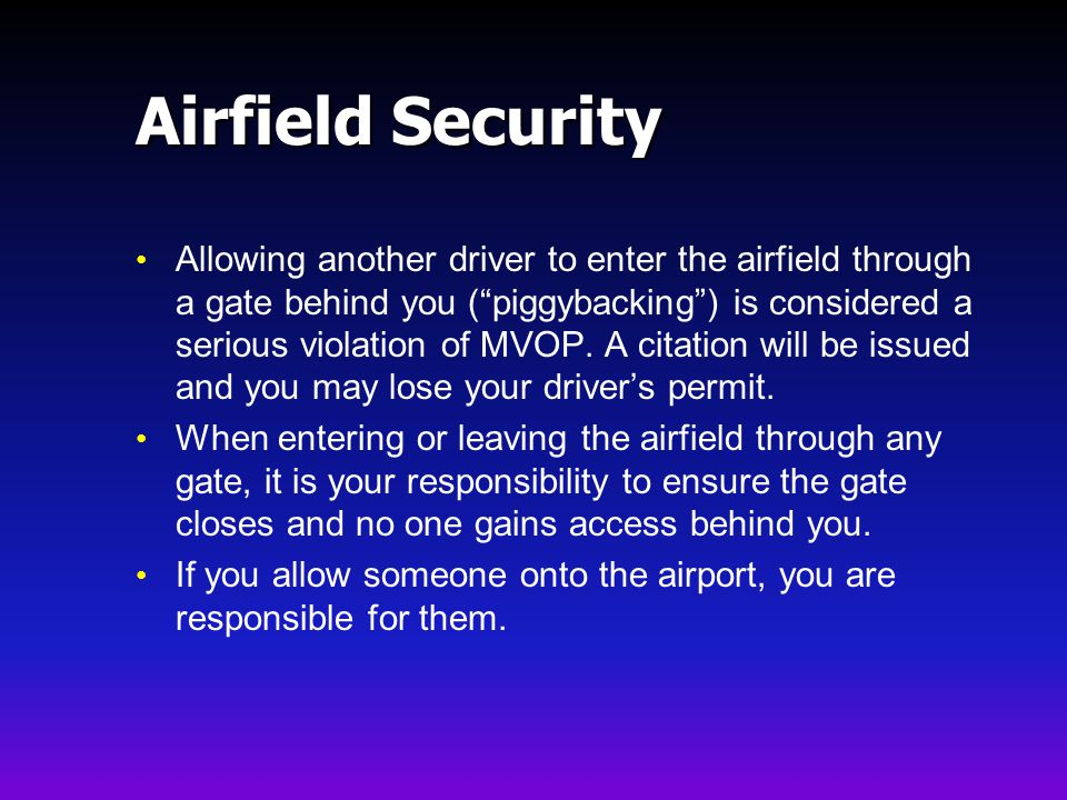 Airfield Security