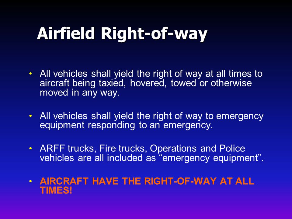 Airfield Right-of-way