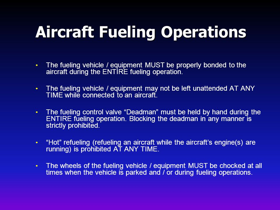 Aircraft Fueling Operations