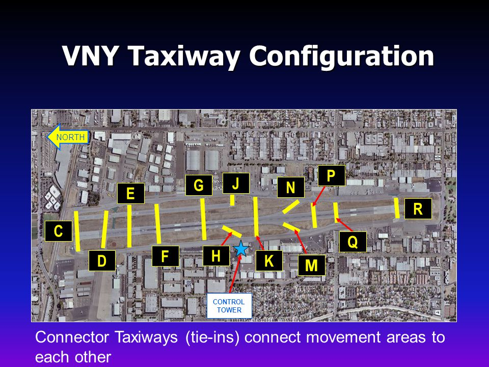 VNY Taxiway Configuration