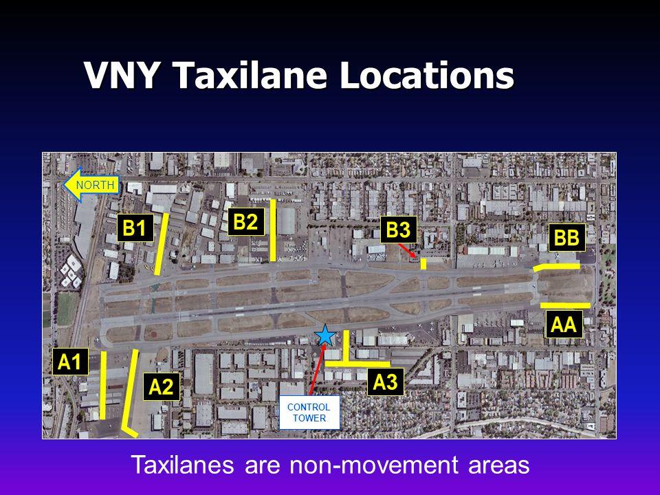 VNY Taxilane Locations