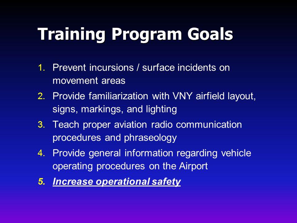 Training Program Goals