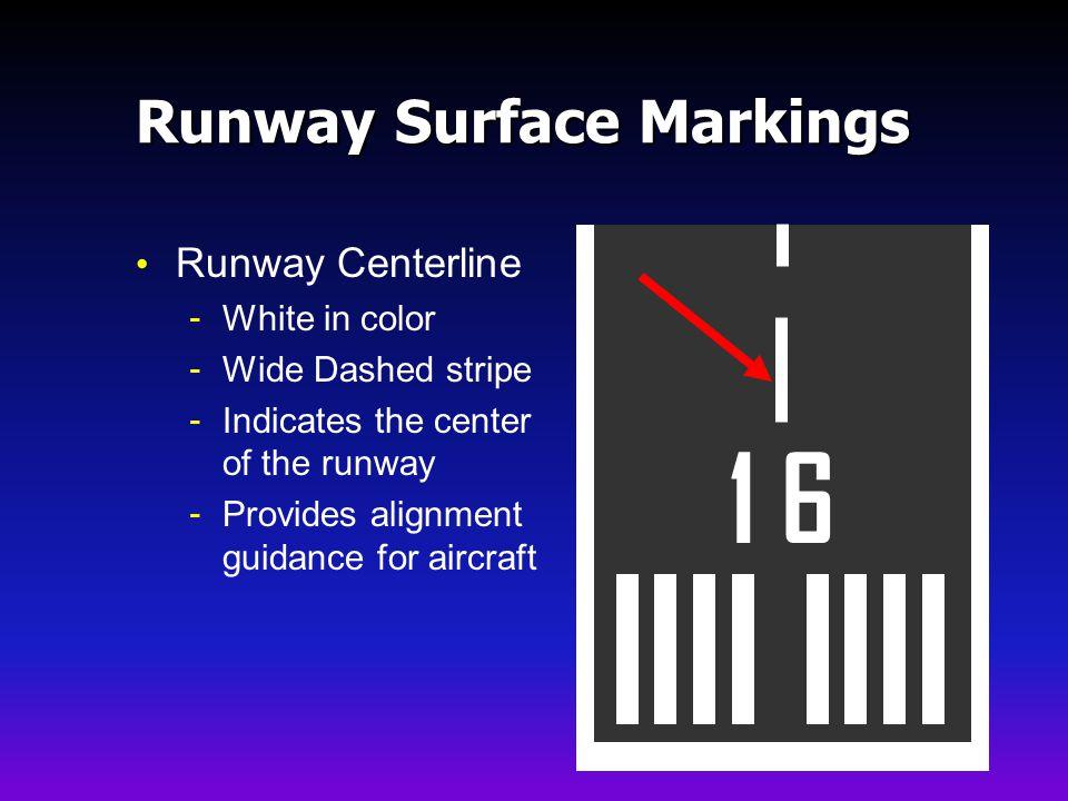 Runway Surface Markings