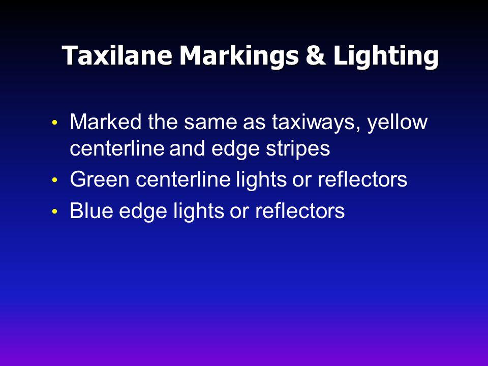 Taxilane Markings & Lighting
