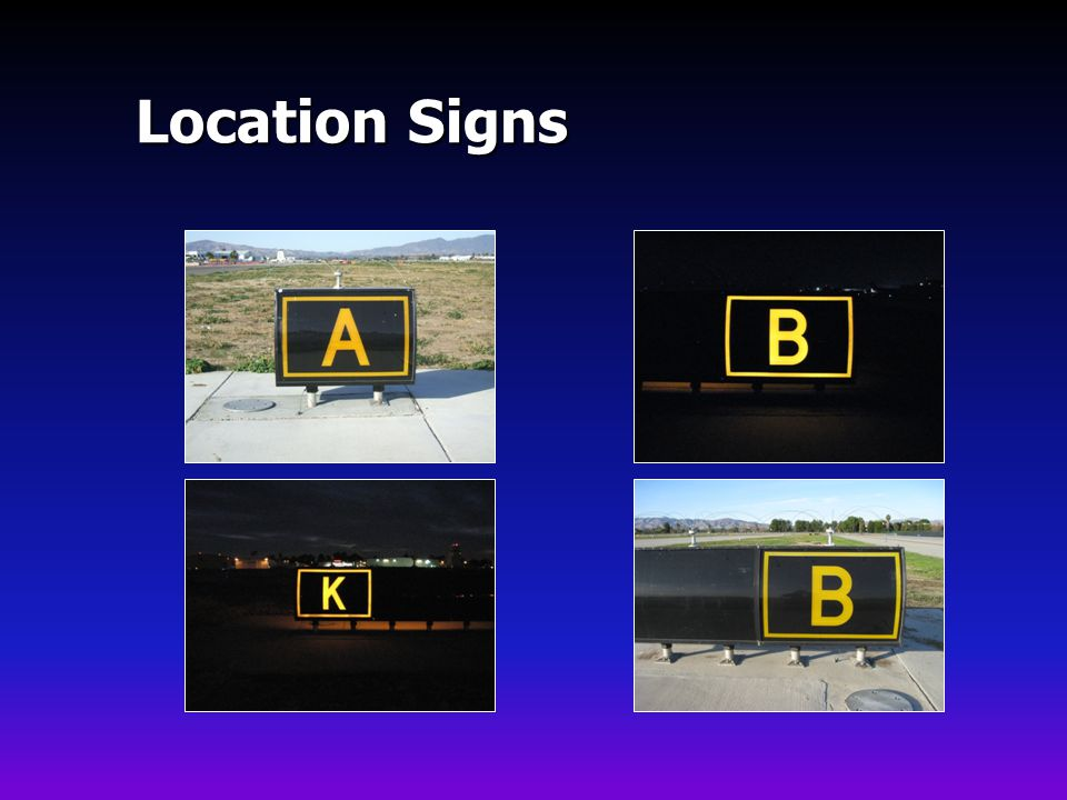 Location Signs