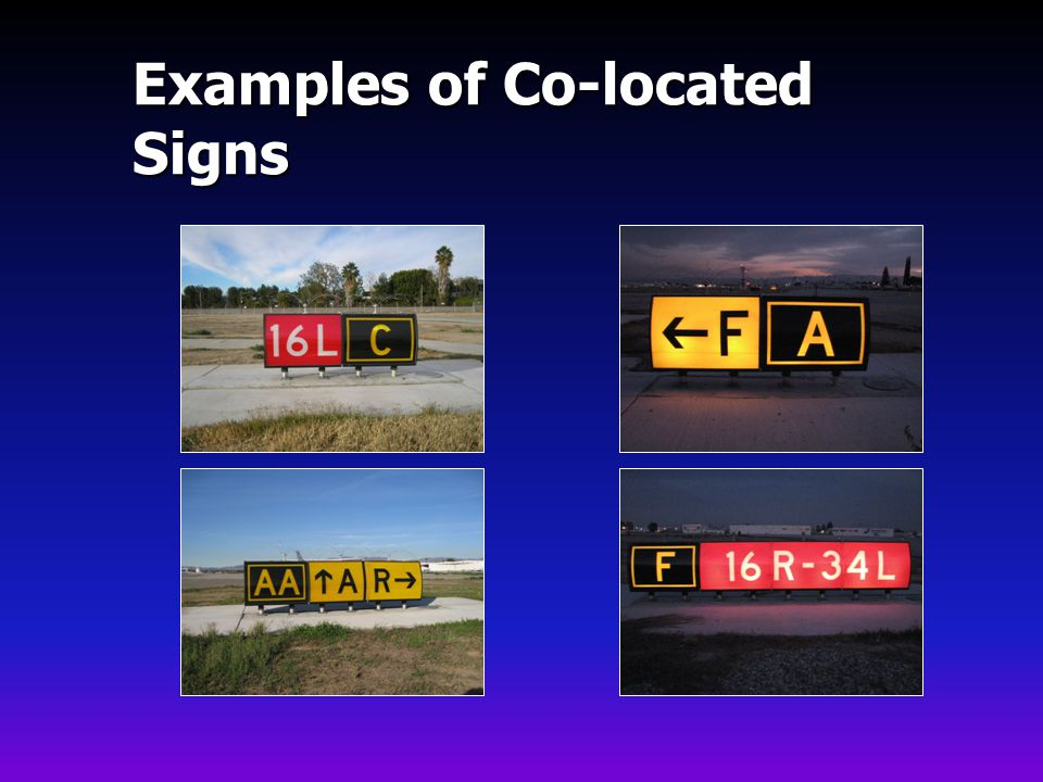 Examples of Co-located Signs