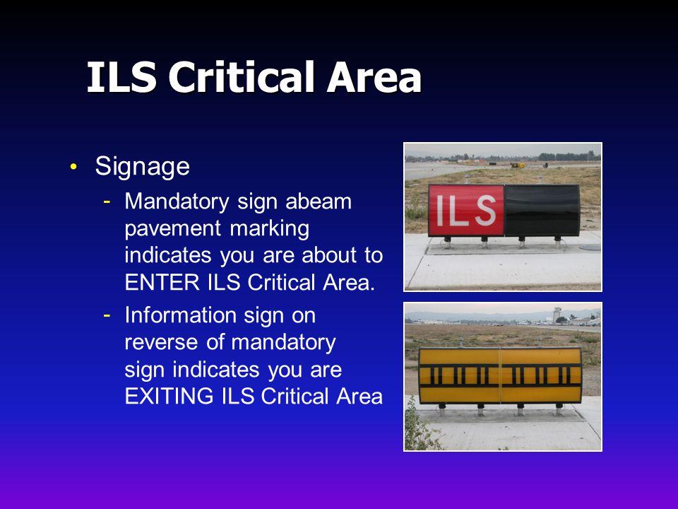 ILS Critical Area Signage