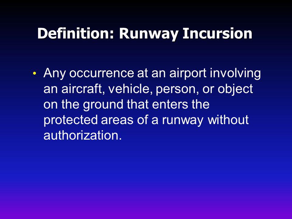 Definition: Runway Incursion