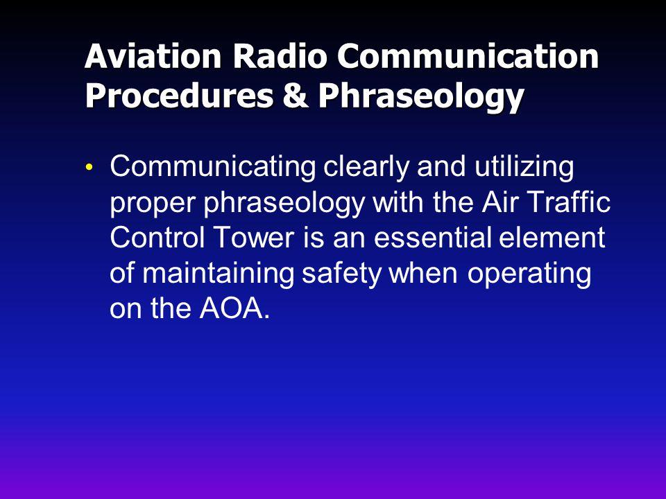 Aviation Radio Communication Procedures & Phraseology