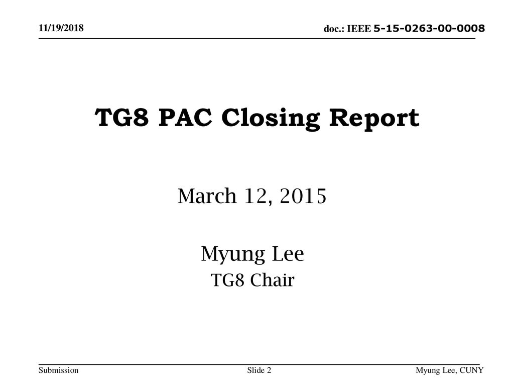 March 12, 2015 Myung Lee TG8 Chair