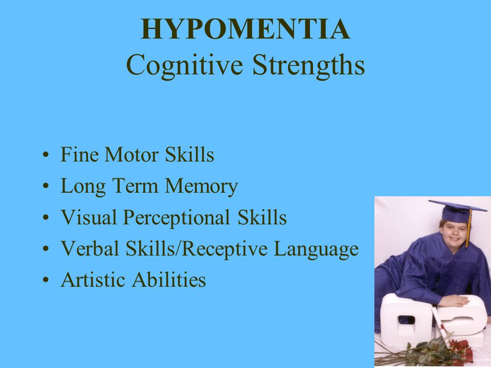HYPOMENTIA Cognitive Strengths