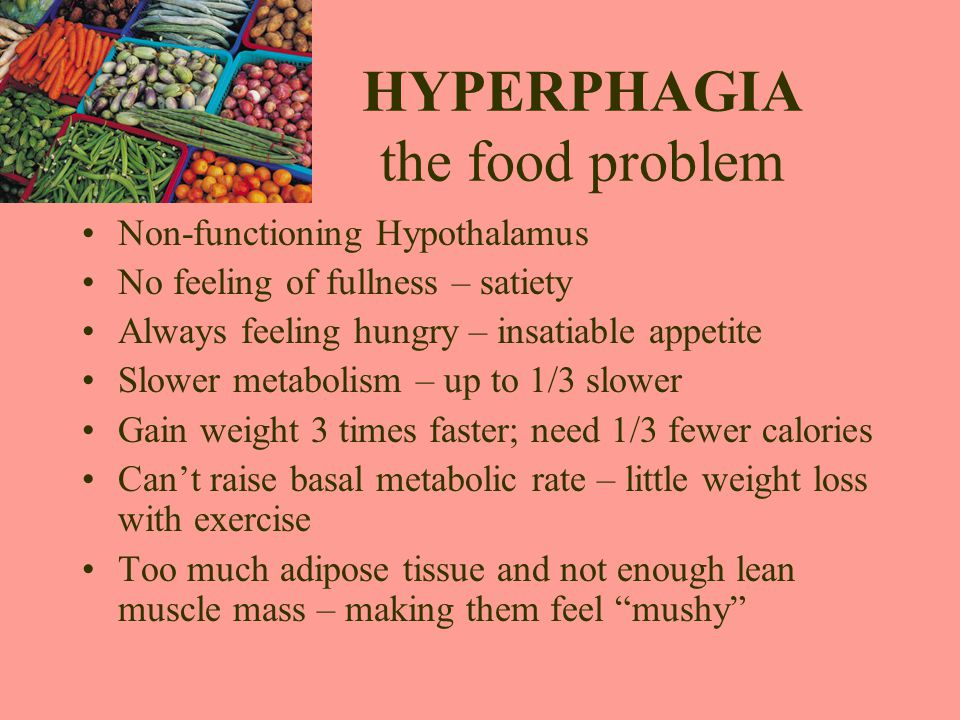 HYPERPHAGIA the food problem