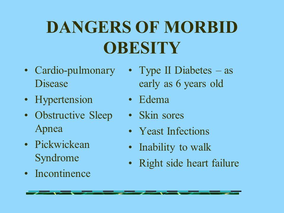DANGERS OF MORBID OBESITY