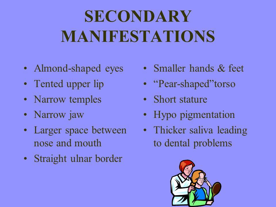 SECONDARY MANIFESTATIONS
