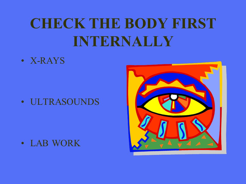 CHECK THE BODY FIRST INTERNALLY
