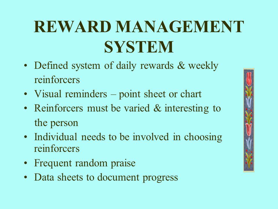 REWARD MANAGEMENT SYSTEM