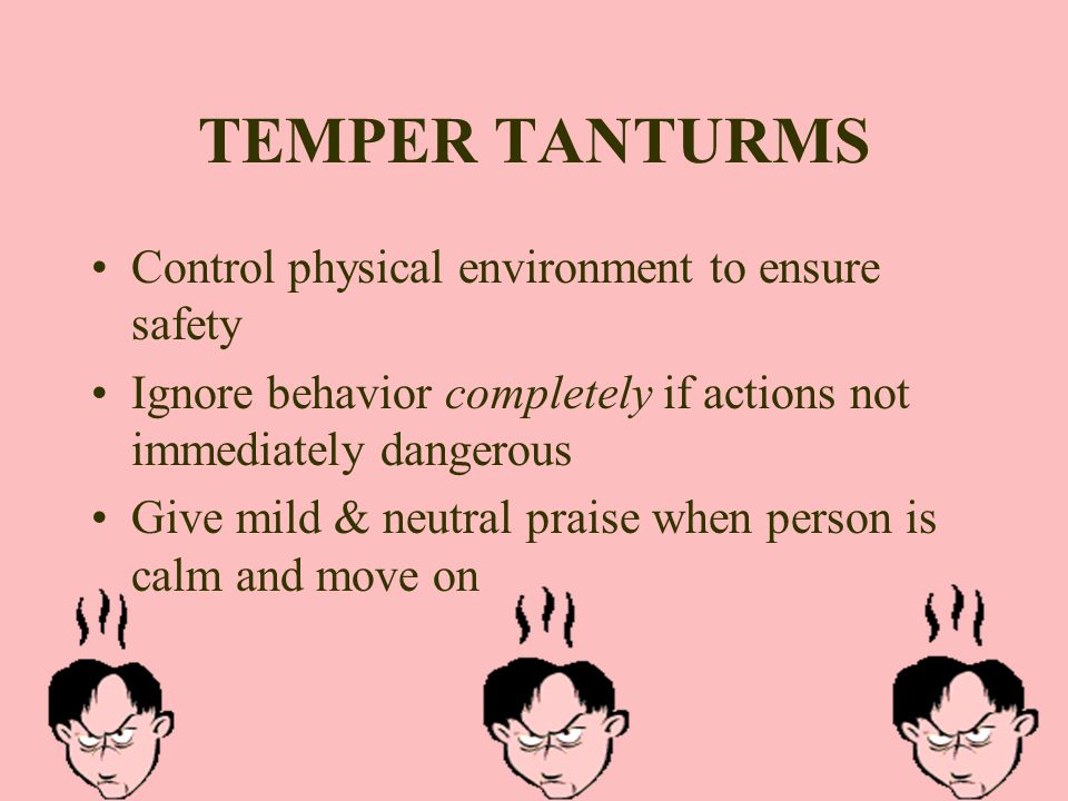 TEMPER TANTURMS Control physical environment to ensure safety