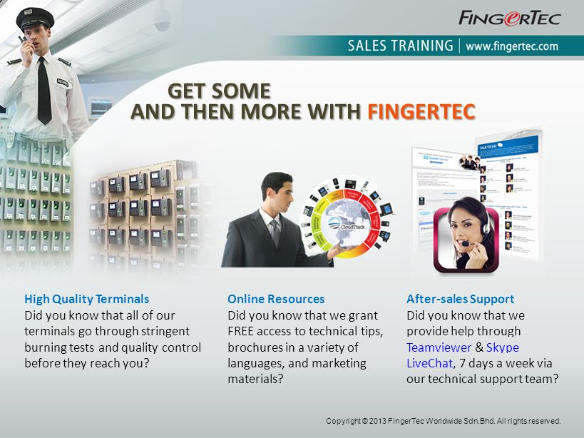 AND THEN MORE WITH FINGERTEC
