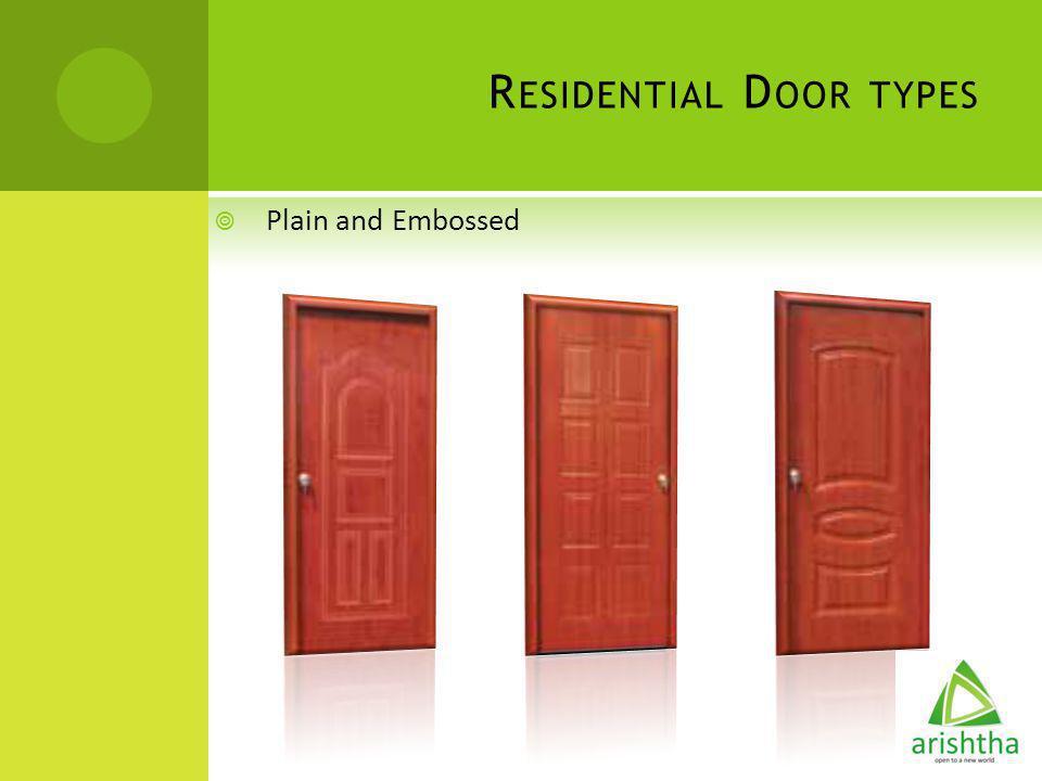 Residential Door types