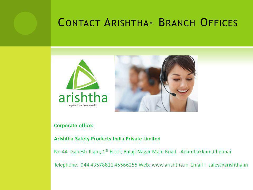 Contact Arishtha- Branch Offices