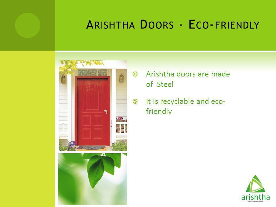 Arishtha Doors - Eco-friendly