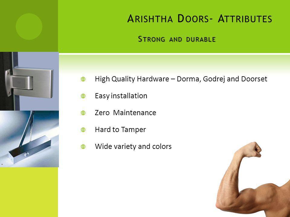 Arishtha Doors- Attributes