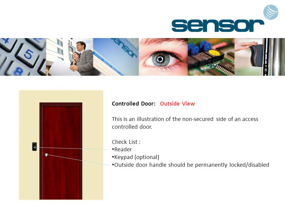 Controlled Door: Outside View